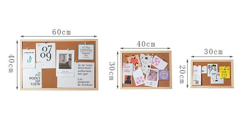 12x12 дюймов легкая Рамка из березовой древесины пробковая доска для объявлений