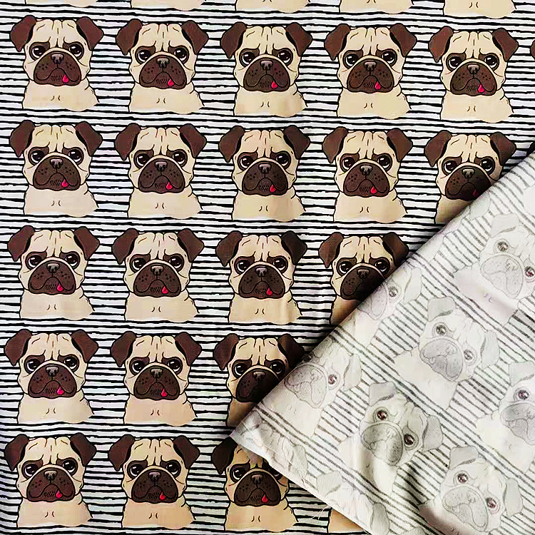 wholesale 100%cotton fabrics woven plain cotton poplin digital print customized print for garment