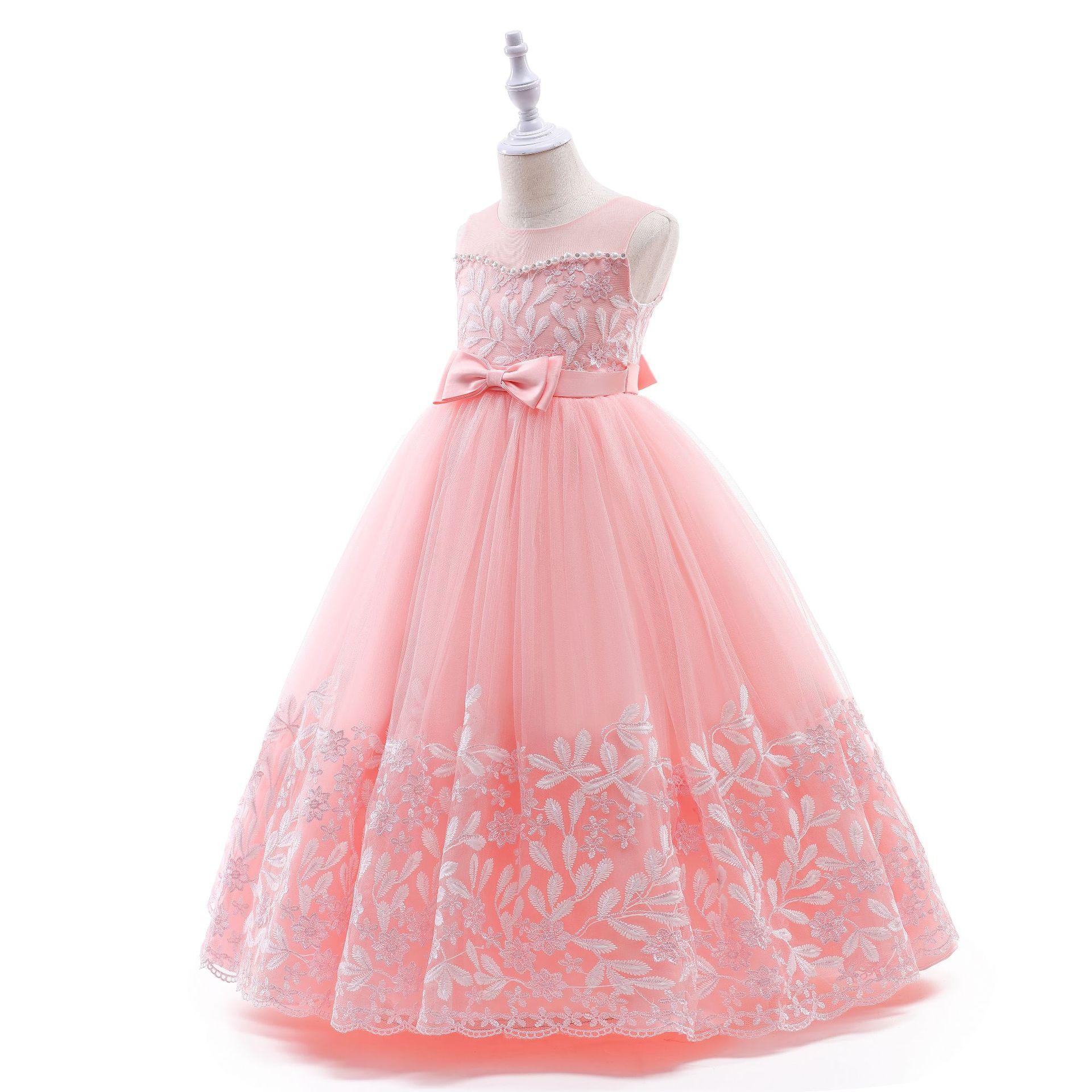 9 Festzug Kleider Kleine Mädchen Lange Kleider Kinder Party Tragen  Kleider Für Mädchen Hellrosa Kinder Kleid   Buy Kinder Lange Kleid Für ...