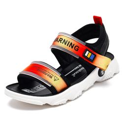 Светящиеся летние детские спортивные повседневные сандалии для мальчиков