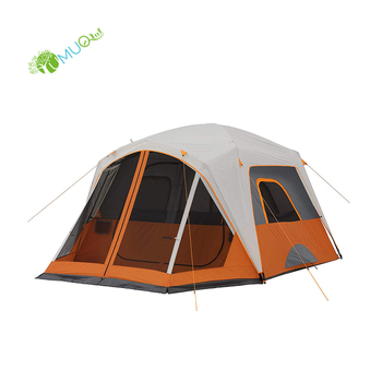 YumuQ Waterproof Camping Wall Cabin Tent with Screen Room, 9 x 10 Feet for 6 Person Outdoor Backpacking, Hiking and Travel