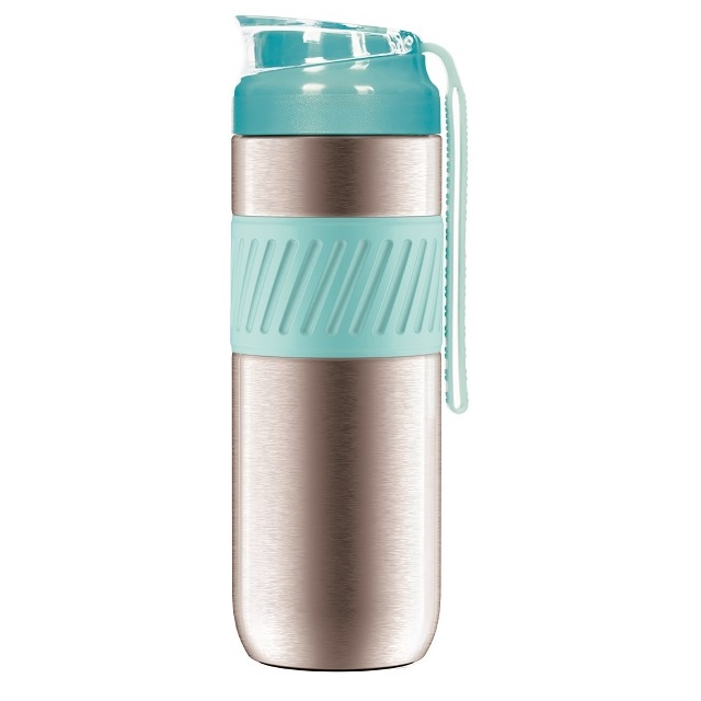 13OZ Hot Resistant, Double Wall Insulation Travel Mug, Portable Drinking Bottle,French Press coffee maker
