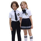 Uniform School Schooluniform International Classic Kids Summer White Color Short Sleeve Student Shirt Uniform Skirt Children's School Uniform