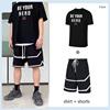 Black shorts with black shirt