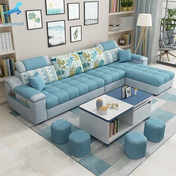 Factory Direct Supply Modern Art Antique Multi Functional Double Color Home Furniture 4 seaters Sectional Sofa