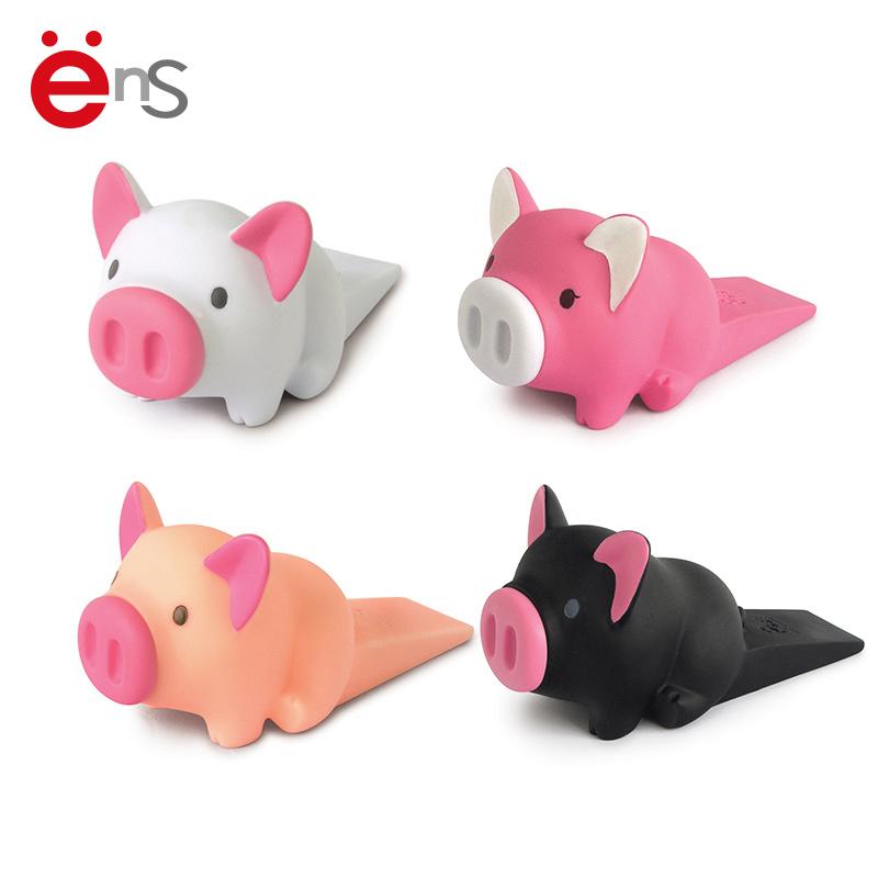 Симпатичные дверные ограничители из винилового ПВХ-материала в форме свиньи