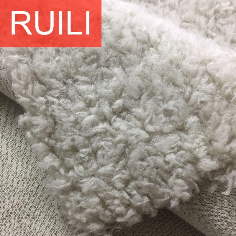 Acrylic hair curly fleece fake faux lamb fur fabric for apparel