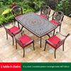 19-6 JL chair 1 braided pattern table 160*100cm