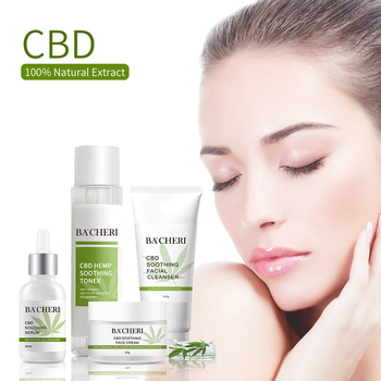 Private Label Natural Organic Skin Care Anti Ance Repairing Moisturizing CBD Skin Care Set Cream For Face