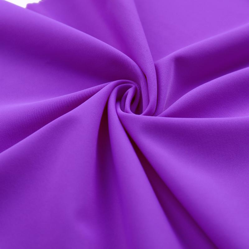 Solid color nylon spandex 4 way stretch knitted high fastness single jersey swimwear fabric bikini fabric