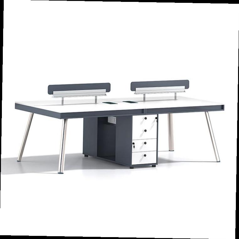 Роскошный европейский стиль Классический 4 человек простой современный офисный персонал Арм бюро