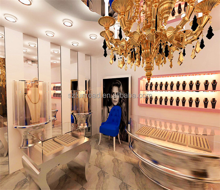High end boutique jewelry shop fittings design furniture for sale