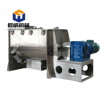 Stainless steel trough agitator mixer / food blending machine / industrial powder mixer