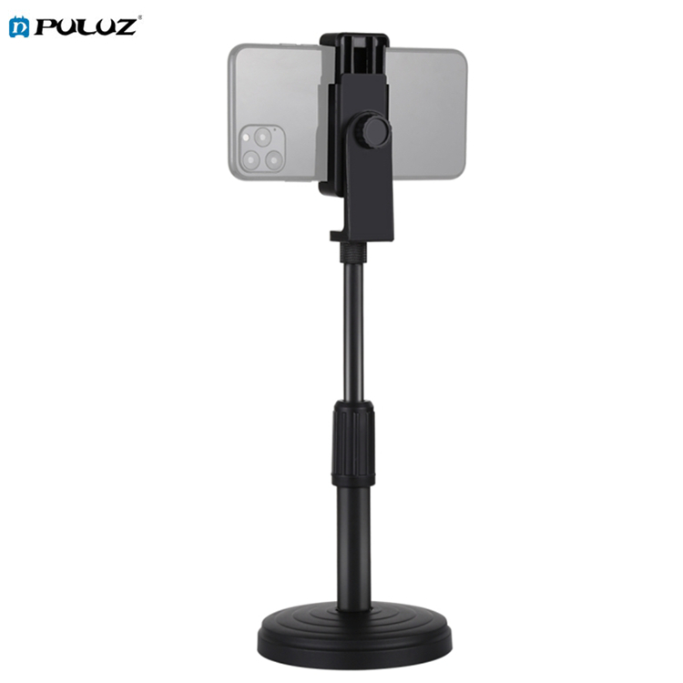 В наличии PULUZ 18 см-28 см регулируемая высота круглый базовый Настольный кронштейн для светодиодной кольцевой видеосъемки