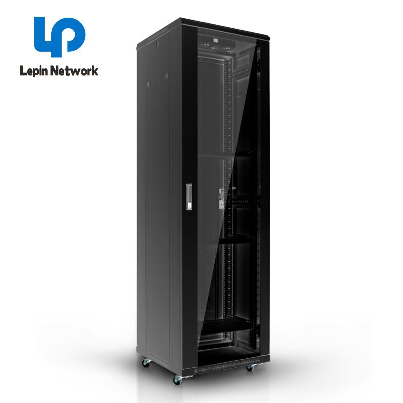 ningbo lepin factory hot sell server rack 42u cabinet network black glass door outdoor wall mount rack cabinet price list
