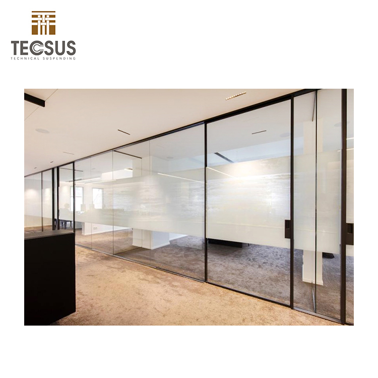 best quality office double frosted glass partition wall