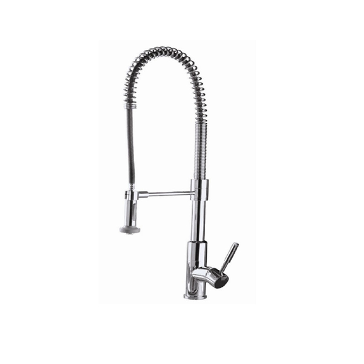 LS-339A Commercial Style Sturdy Spring Single Handle Pull Down Kitchen Sink Faucet with Sprayer, Pull Out Kitchen Faucet