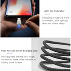 Game Cable For Play Game 90 Degree Mobile Phone Usb Data Cable Line 2.4A 8Pin Charging Cable For Iphone