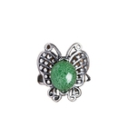 Stone Ring Longquan Celadon Handmade Original Exquisite Butterfly Big Gem Sterling Silver Precious Stone Ring