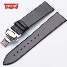 Высокое качество, ремешок для часов из натуральной кожи, для мужчин и женщин, коричневый, черный, водонепроницаемый, ремешок для часов, сталь...(China)