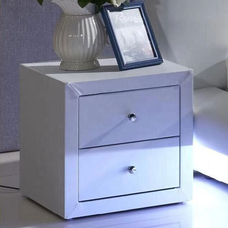 wholesale cheap custom white night table wood top promotion night stand bedside table bedroom night table