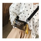 New Bag Messenger Black Pvc Bag New Fashion PVC Jelly Bag Pink Black Purple School Girl's Transparent Cross Body Bag Messenger Bag Waterproof
