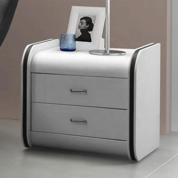 Modern wooden nightstand white side table living room furniture