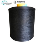 Black Stretch Hand High Stretch Recycled Polyester Yarn High Tenacity Dyed Black Full-dull DTY 75D/72F SIM High Stretch Recycled Polyester Yarn For Hand Knitting