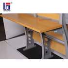 School Desk And Chairs School Chair And Desk College School Wooden Desk Furniture Classroom PU Table And Folding Chairs