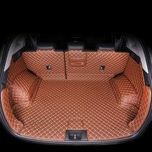 Кожаный коврик для багажника автомобиля для hyundai tucson 2019 2020 suv, аксессуары для багажника, внутренний багажник(Китай)