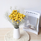 Pieces Flowers Wedding Wedding 20 Pieces Per Bunch Natural Dried Craspedia Globosa Flowers Golden Ball For Wedding Bouquet Diy Material