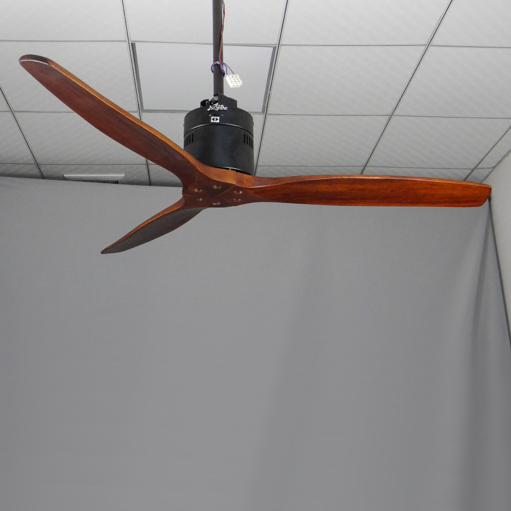 1stshine Hot Sale 3 Solid Fan With Wooden Leaf Wooden Ceiling Fan With Remote Control