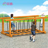 Solid wood kids balance bridge