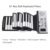 Roll Up MIDI Flexible Piano 61 Keys Silicone Portable Foldable Soft Keyboard Electronic Piano For Kids Children Student