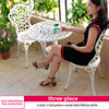 5-2 chair 1 leaf pattern round table D60cm white