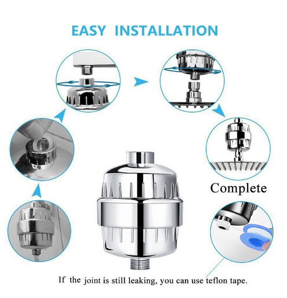 15 Stage Filtration Vitamin C Shower  Purifier  Water Filter and Cartridge
