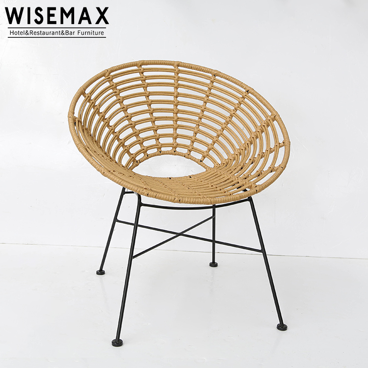 New Design Lounge Chair Peacock Rattan Wrought Iron Pe Wicker Outdoor Wood Buy Product On Alibaba Com