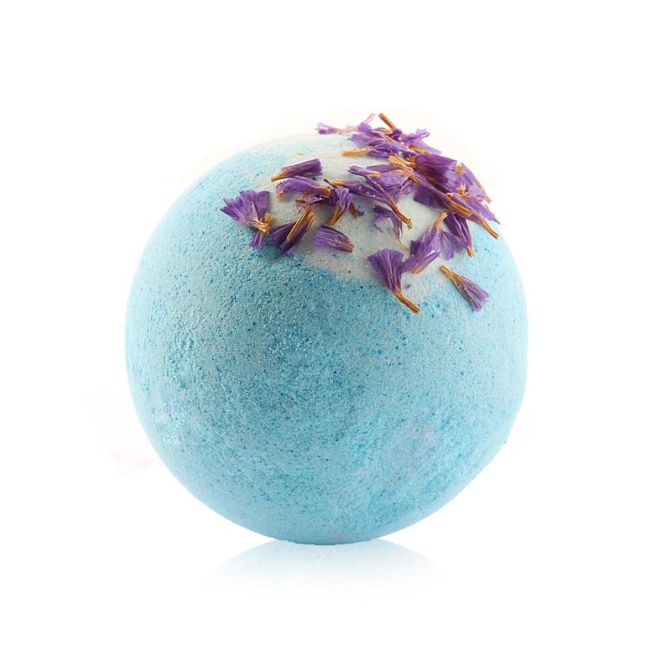 Natural Rose pink bath bomb organic bath bombs