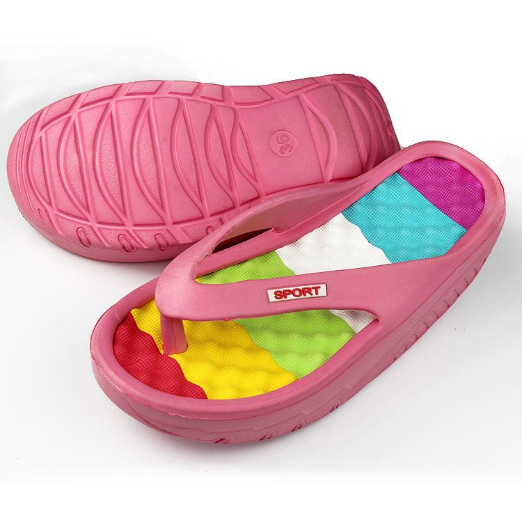High Quality Custom Logo Wholesale Home Sublimation Flip Flops In Bulk Women Rainbow Flip Flops