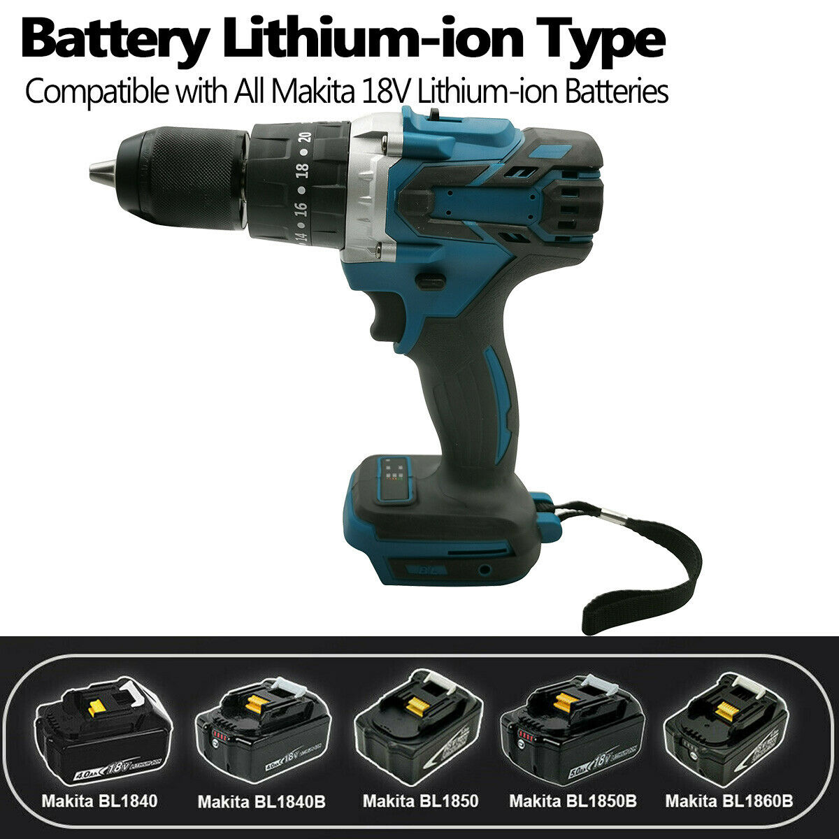 18V Battery 3 in 1 Brushless Electric Hammer Drill Electric Screwdriver 13mm 20+3 Torque Cordless Impact Drill set