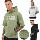 Fashion OEM ODM new style casual mens short sleeve hoodies