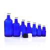 Blau glas dropper flasche