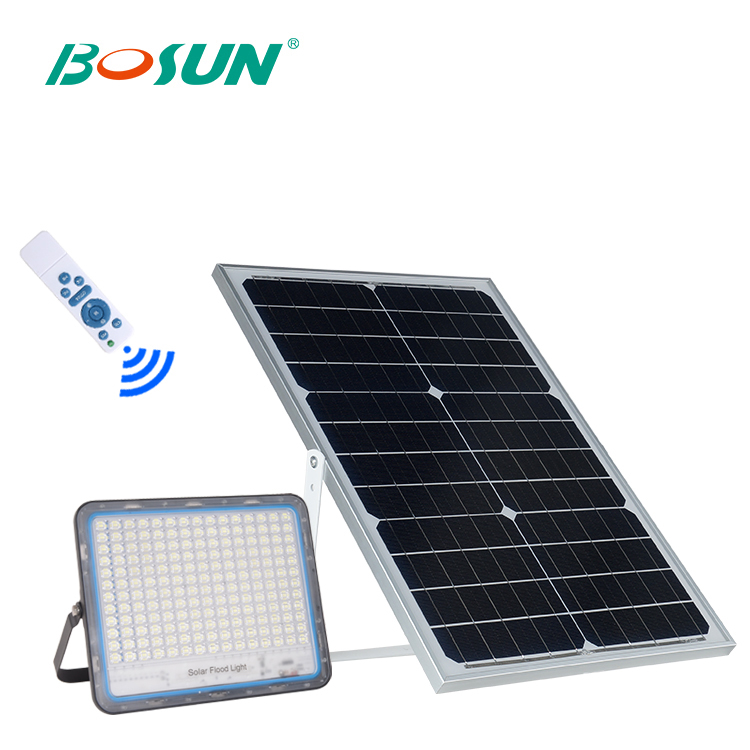BOSUN Hot sale product ip65 waterproof aluminum housing architectural lighting smd 40 60 100 200 300 w solar led flood light