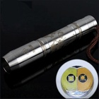 Two Color Stainless Steel LED Flashlight with Chinese Dragon Pattern