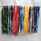 Girls Fuzzy Tie Dye Scarf 2020 New Fashion Soft Warm Winter Red Printed Long Scarf Cape Shawl Women Tie Dyed Scarf