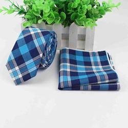 Неформальный узкий галстук, носовой платок, 100% хлопок, текстильные Галстуки, карманный квадратный галстук с цветочным принтом, Классический Тонкий галстук в полоску