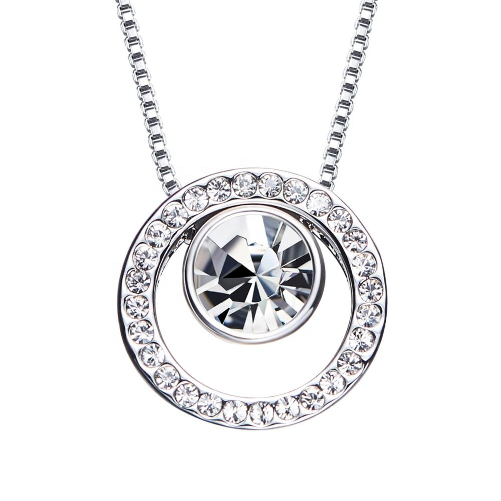 OUXI 11847 Custom china hoop pendants for necklace women crystal chains necklace