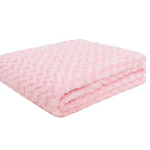 2021 new design PV fleece brushed flower design pink double layer polar fleece blanket