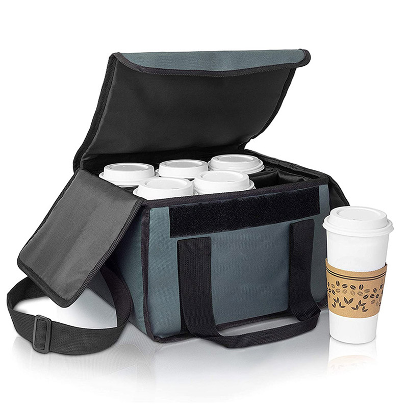 Reusable Food Delivery Bag Drink Holder Coffee Carrier to Go Drink Caddy Drinks delivery bag