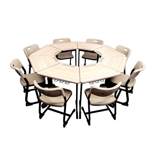 Popular school furniture classroom table chair set modern school table sets classroom student desk chair